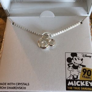 NIB Disney 90 Anniversary Mickey Swarovski Pendant